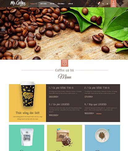 Thiết kế website nhà hàng Coffee And You