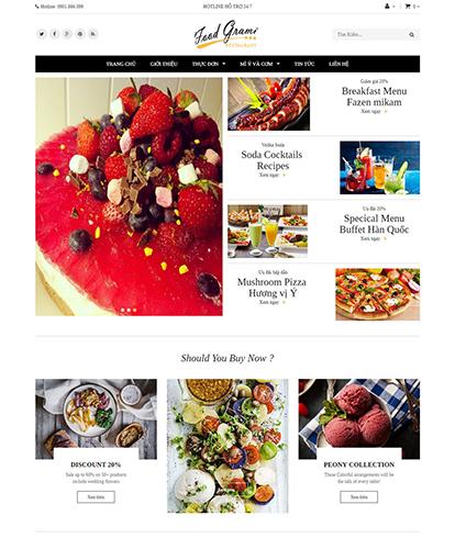 Thiết kế website nhà hàng Food Grami