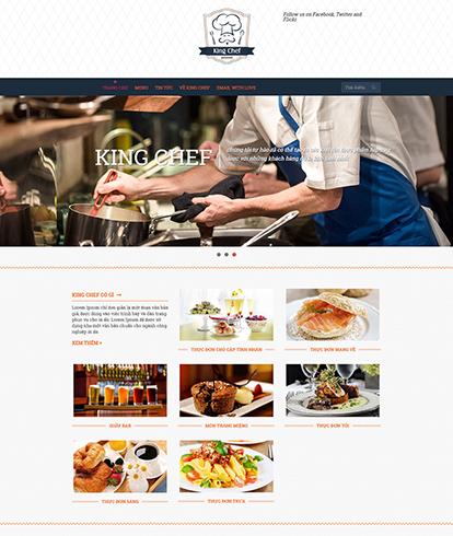 Thiết kế website nhà hàng King Chef
