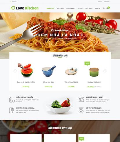 Thiết kế website nhà hàng Love Kitchen