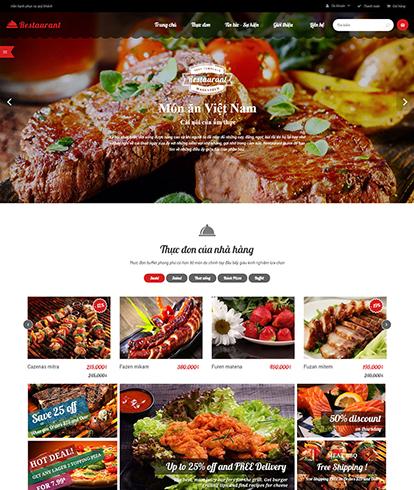 Thiết kế website nhà hàng Restaurant no1