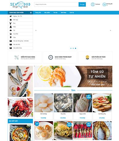 Thiết kế website nhà hàng Sea Food