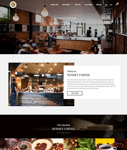 Thiết kế website nhà hàng Sunset Coffee