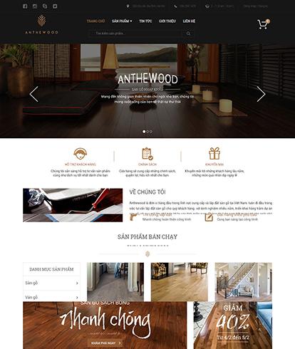 Thiết kế Website Nội thất AntheWood