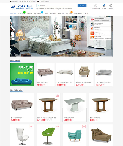 Thiết kế website nội thất AP Sofa