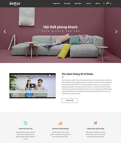 Thiết kế website Nội thất Dekor