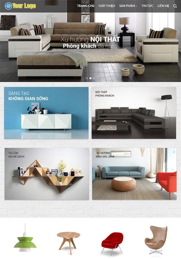 Thiết kế website nội thất đẹp - Mẫu web NT2