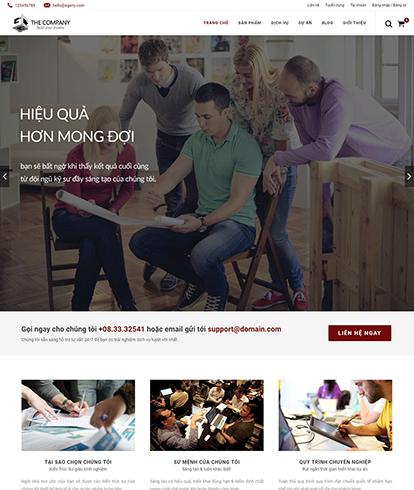 Thiết kế website nội thất EGA The Company