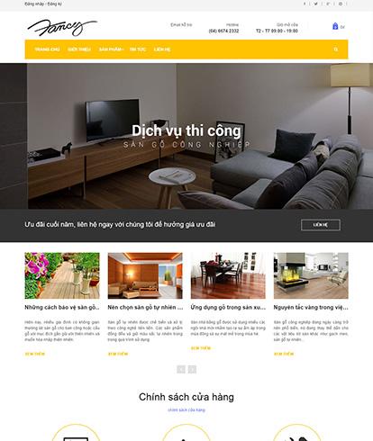 Thiết kế Website Nội thất Fancy