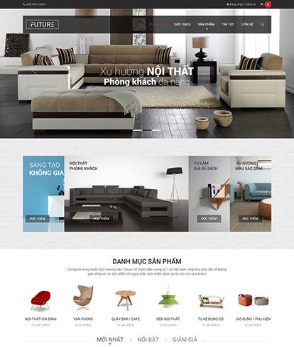 Thiết kế Website nội thất Future