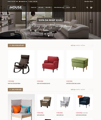 Thiết kế website nội thất Ihouse