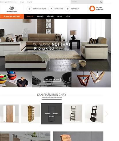 Thiết kế Website Nội thất Interiorvnex