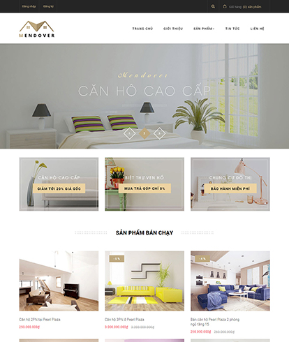 Thiết kế Website nội thất Mendover