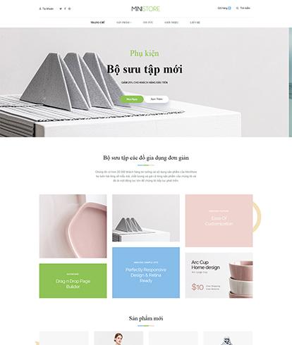 Thiết kế website nội thất Mini Store