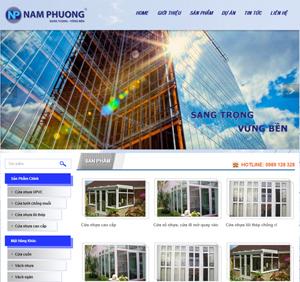 Thiết kế website nội thất Nam Phương