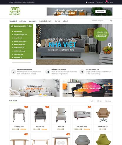 Thiết kế Website Nội thất Nội thất việt