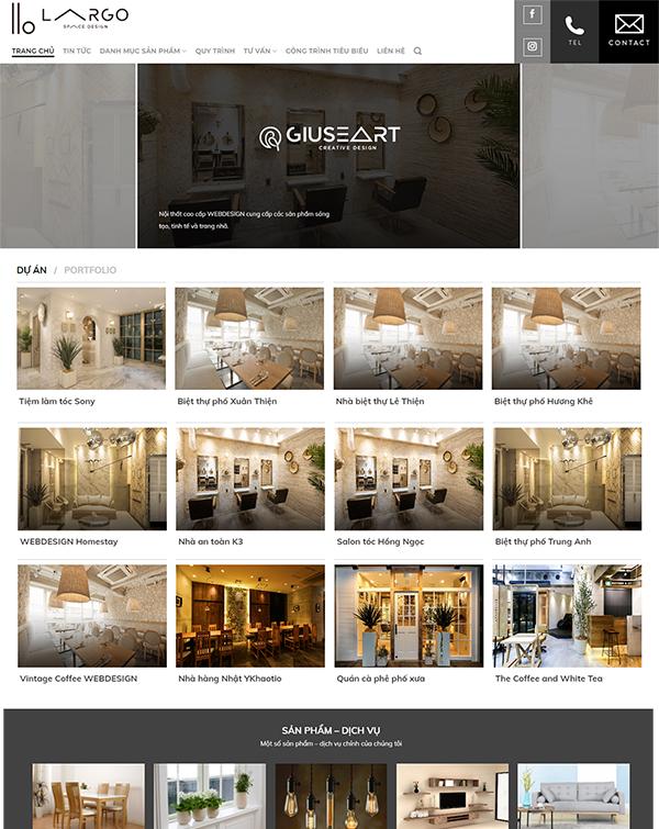 Thiết kế website nội thất - NT1