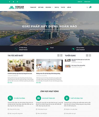 Thiết kế Website Nội thất Ranger