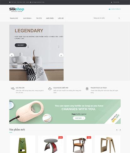 Thiết kế website nội thất Silkshop