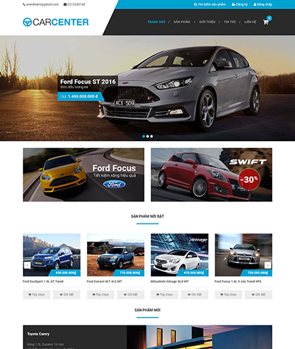 Thiết kế website Ô tô Car Centre