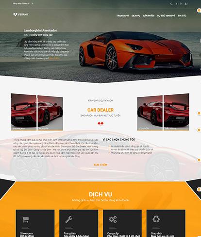 Thiết kế Website Ô Tô Car Dealer