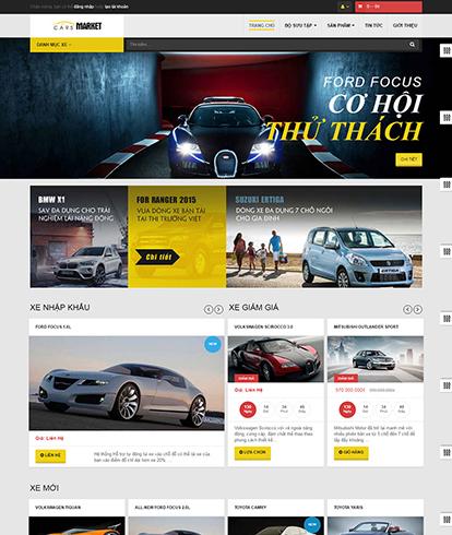 Thiết kế website Ô tô Leo Car