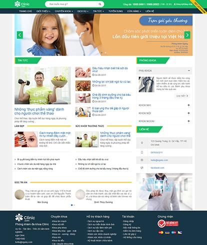 Thiết kế website phòng khám CLinic
