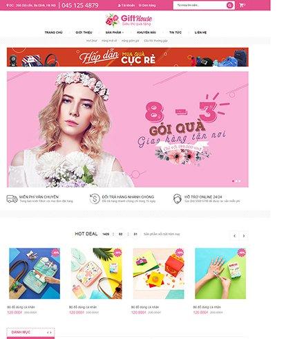 Thiết kế Website quà tặng Gift House