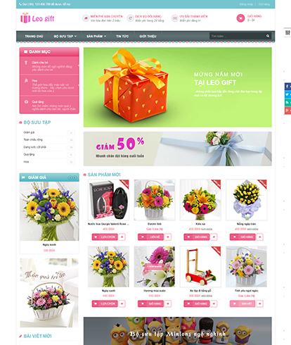 Thiết kế Website Quà tặng Leo Gift