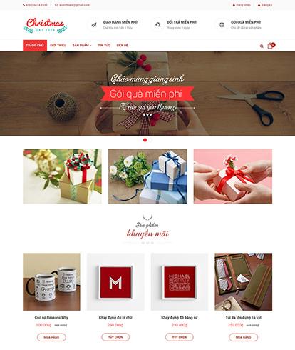 Thiết kế website quà tặng Noel