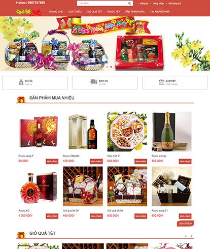 Thiết kế Website quà tặng Tết TET-SHOP