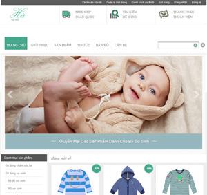 Thiết kế website quần áo trẻ em xuất khẩu