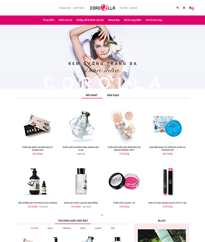 Thiết kế Website Sắc đẹp Corolla