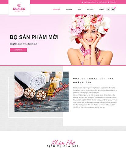 Thiết kế Website Sắc đẹp Dualeo Spa