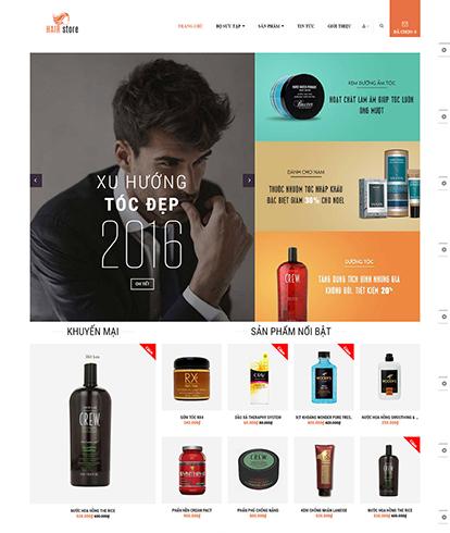 Thiết kế Website Sắc đẹp Leo Hair