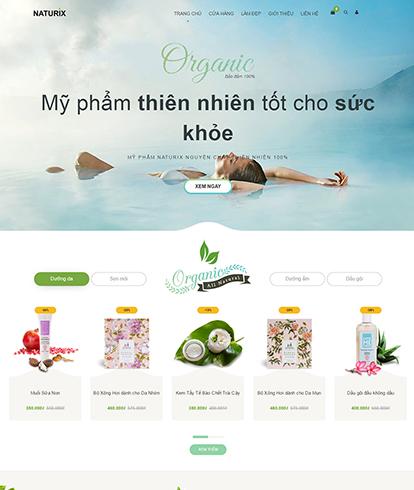 Thiết kế Website Sắc đẹp Naturix