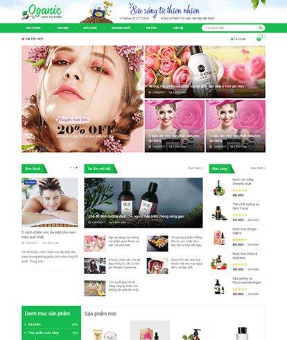 Thiết kế website Sắc đẹp Oganic