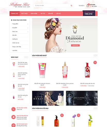 Thiết kế Website Sắc đẹp Perfume Rise