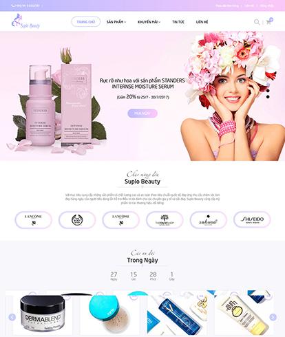 Thiết kế website sắc đẹp Suplo Beauty