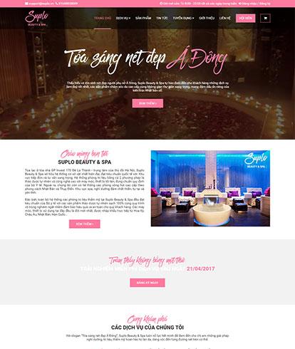 Thiết kế website Sắc đẹp Suplo Spa