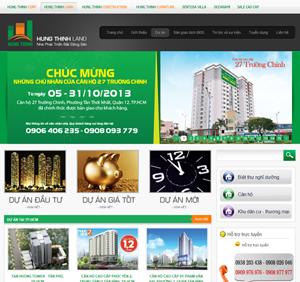 Thiết kế website sàn giao dịch bất động sản Hưng Thịnh