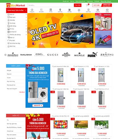 Thiết kế website siêu thị điện máy EGA Mini Market