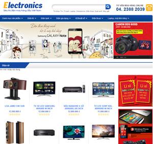 Thiết kế website siêu thị điện máy hàng đầu