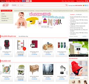 Thiết kế website siêu thị đồ trẻ em