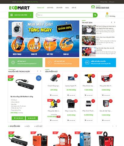 Thiết kế website Siêu thị Ecomart