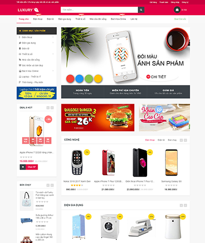 Thiết kế Website Siêu thị Luxury