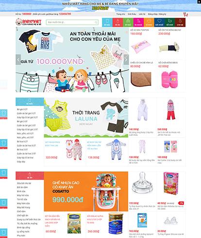 Thiết kế Website siêu thị mẹ và bé Babymart