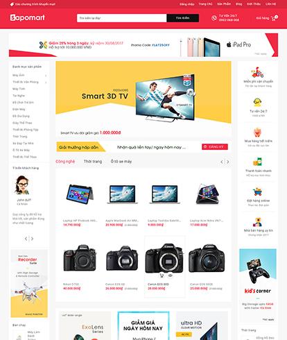 Thiết kế Website Siêu thị Sapomart