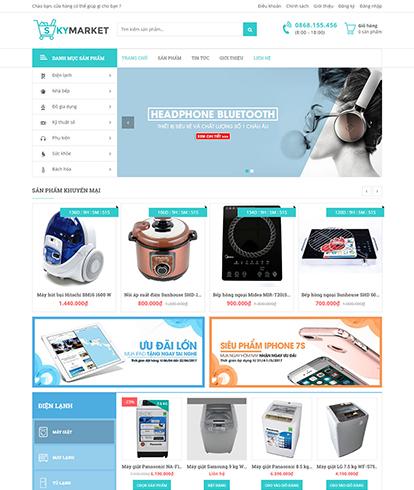 Thiết kế website Siêu thị Skymarket