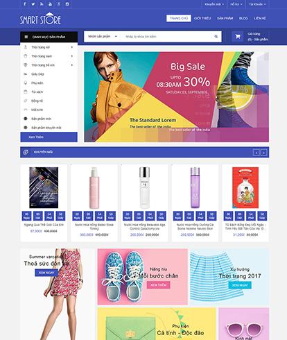 Thiết kế website siêu thị smart store